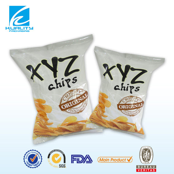 center seal pouch for chips 56g BOPP/MCPP
