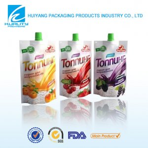 juice packaging pouch 250ml PET/WHITE LDPE